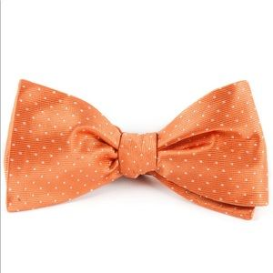 BOW TIE TANGERINE MINI DOTS BY THE TIE BAR